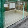 ゴミ置き場の修理1-3(古い木製スノコの取替え)