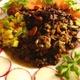 ✴︎黒豆、玉ねぎ、人参、オレンジパプリカ、海老のチリペッパー煮込み(覚書き)、ワカモレ、紫キャベツと人参のスパイスローストの残りの盛り合わせ。