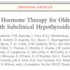 潜在性甲状腺機能低下症の高齢者への甲状腺ホルモンの補給について