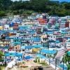 【韓国:釜山旅行記】 まるでモロッコの青の街 シェフシャウエン?! 南浦洞にあるカラフルな街 『甘川洞文化村』