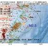 2017年07月23日 12時36分 福島県沖でM2.5の地震