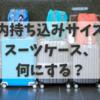 機内持ち込みサイズのスーツケース何にすればいいか問題