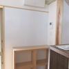 キッチンの掲示板と造作収納