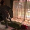 足ふみピーエの練習をしています!