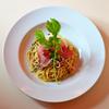 「イタリア産トリフのシンプルなオイル・スパゲティ パルマ産生ハム添え」のご紹介