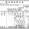 デル株式会社 第30期決算公告