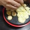いかえびウインナーのたこなし焼き、ひじき豆サラダ