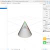 iOS で SceneKit を試す(Swift 3) その23 - ビルトインジオメトリ SCNCone(円錐)