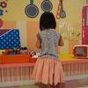 3歳の誕生日プレゼントはふんわりスカート。