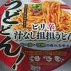 【カップ麺】うどどん! ビリ辛汁なし担担うどん食べてみました!舌がしびれるビリ辛!旨辛!