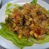 大豆とミンチの炒めもの