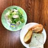 簡単な朝食じかん・サニーレタスサラダ・フランスパン【小さな幸せのひととき】#06