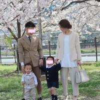 長男が年少さんに🌸家族写真👨👩👦👦🌸【人気インスタグラマー@ask_____10ブログ】