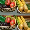 野菜たちのなかに紛れ込んだ間違い探し