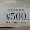 【優待】ハイデイ日高から食事券2000円分来ましたー