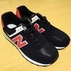 new balance classic 574 [BLACK × RED]