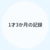 1才3ヵ月のキロク【育児記録】
