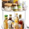 キッチンが狭い場合に便利 省スペースで活用できる調味料収納トレイ 360回転式