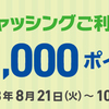 イオンカードの「はじめてキャッシング」キャンペーンで1000ポイント