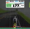 【ロードバイク】スマートローラーを活用したトレーニング レポート_20200214