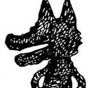 赤柴犬の散歩写真