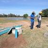 深井戸に太陽光発電による揚水ポンプの設置手順を紹介します。