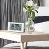 2度寝防止に安くておすすめ セイコークロック 電波置き時計 デジタル 温度 湿度 表示 BC402W