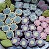 *雨の季節にぴったりの紫陽花クッキー*