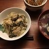 牛蒡と牡蠣の炊き込みご飯とイクラの醤油漬け