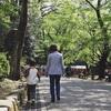 孫とお散歩