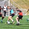 サッカーのミニゲームにおける生理学的要求(1チーム2名、3名、4名の試合は、無酸素性プログラムであり、5名、6名、7名で行なう試合では、耐乳酸性プログラムになる)