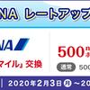 【nanacoポイント】AMC20%レートアップキャンペーン