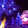 【写真で観光】一週間の疲れを癒す、会津鶴ヶ城のキラキラ写真。「アイヅテラス」雪吊りイルミネーション&プロジェクションマッピングレポ✨