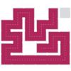 """【攻略】パズルゲームの""""Fill""""の攻略を載せてみる expertのLevel1の51~60"""