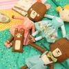 modaさんの生地で可愛いお人形ができました(*^_^*)