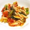 野沢菜とトマトのパスタ〜肝腎ケア