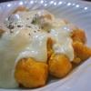 かぼちゃのニョッキ、チーズソースかけセージの香り