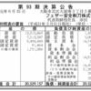 フェザー安全剃刀株式会社 第93期決算公告