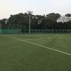 品川の八潮北公園野球場で個人参加型のミニサッカーに参加。グラウンドは狭めでミニサッカー専用。