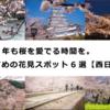 2021年も桜を愛でる時間を。おすすめの花見スポット6選【西日本編】