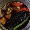 揚げ野菜の三杯酢浸しとステーキ🤗🍆🍄