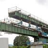 1年1か月ぶりに列車が鉄橋をわたった - 信楽高原鉄道