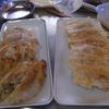 幸運な病のレシピ( 877 )朝:餃子、リヨー(バラブロックの脂揚げ)、サラダ(ポテト・ツナ・グリーン)、イワシ丸干し、塩サバ