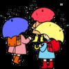 雨の日のあいさつ運動