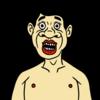 上半身裸のかわいいおじさん のイラスト