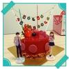 赤いクリスマスケーキ!