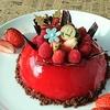 メリークリスマス!!!( ^-^)ノ∠※。.:*:・'°☆   フランボワーズ・ドームムース♪♪