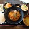 金沢市藤江北にある旬菜串焼き静流で、ランチ。数量限定おすすめ定食(この日は韓国風シロ煮込み)で、ご飯大盛り。