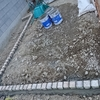外構工事7日目~ピンコロ固定とテラス屋根
