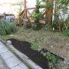 法面花壇掘り起こし